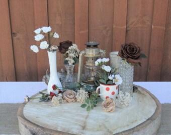 """Extra Large Aspen Slice ~ 22"""", 23"""", 24"""", 25"""" ~  Rustic Wedding Cake Stand ~  Large Wood Slab ~ Cake Stand ~ Fall Wedding ~"""