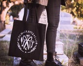 Witch Crafts Club Tote Bag, screen-printed, 100% cotton, 15x16