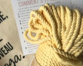 Macrame pastel yellow cotton rope, macrame rope, cotton cord 5 mm, macrame cord, 5mm cotton twisted rope, cotton rope macrame, diy rope