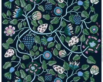 Individuelle Gardinen Maßanfertigung / / römische Roller Blackout Vorhänge / / gefüttert / / Retro 60er Jahre / / geometrische skandinavischen / / Midnight Garten Blumen