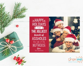 Jolliest Bunch Funny Holiday Photo Card