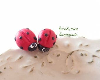 Ladybird Earrings-stud earrings with Ladybird-Valentine's Day gift-lucky charm-Ladybird earrings-friend Gift