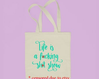 Mature, Cotton Tote Bag, Funny Tote Bag, Christmas Gift, Holiday Gift for Her, Gift for Him, Natural Cotton Bag, Gift for Coworker