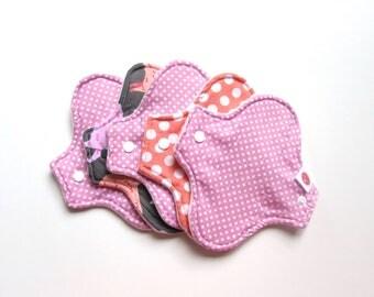 KIT 5  mama cloth pads Pantyliner