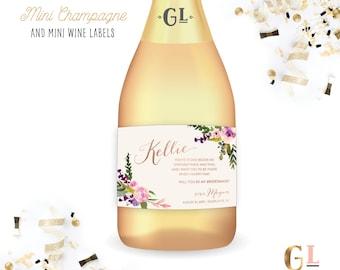 Will You Be My Bridesmaid Mini Champagne Label, Maid of Honor Proposal, Alt Bridesmaid Card, Mini Bridesmaid Wine, Bridesmaid Ask Wine Label