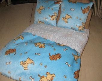 Luxury Headboard Cozy Fleeze Puppy Bed or Little Cats Bed