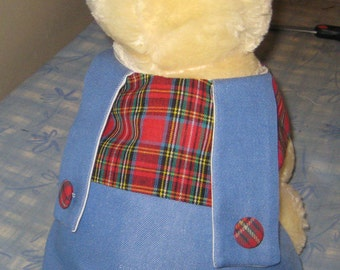 Beautyful Jeans /Plaid Puppy Outfit for Small Doggys