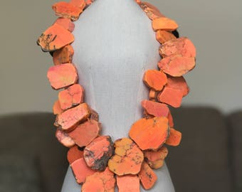 Santorini Necklace   Orange   The highlight of your outfit will be this stunning necklace!