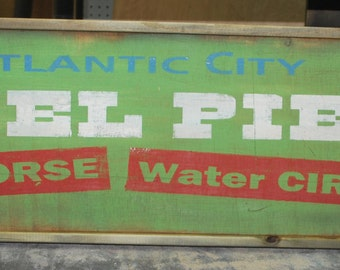 Antique style Atlantic City Steel Pier Advertising Sign