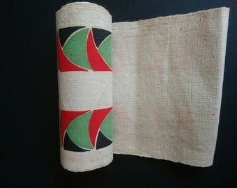 Vintage Espadrille Canvas Fabric