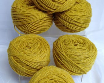 Frosted Goldenrod Yarn Bundle Worsted Yarn Ice Sheen Yarn for Flowers Crafting Weaving and Fiber Art Work