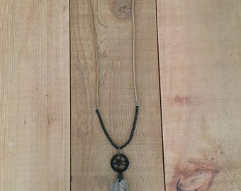 Handmade Leather Dreamcatcher Necklace
