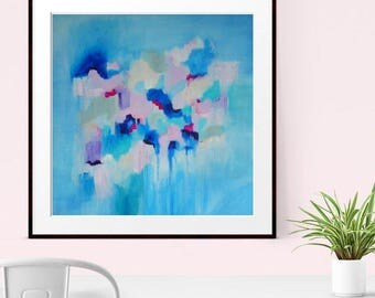 Blue Abstract Print , Giclee Print, Colourful Abstract,  Modern Art Abstract, Home Decor, Wall decor, Wall Art