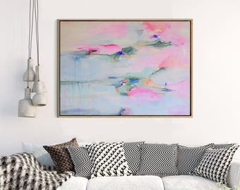 Wall Art Prints, Abstract Art, Pink Abstract Art, Large Abstract Print, Giclee Print, Canvas print, Fine Art Print ,Abstract Expressionism,