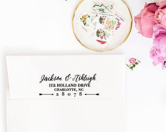Return Address Stamp, Self-Inking Address Stamp, Custom Address Stamp, Self Inking Return Address Stamp, Return Address Label Style No. 17