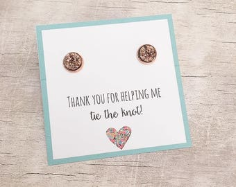 Bridesmaid Thank you Gift Ideas - Maid of Honor Thank you Gift - Druzy Earrings - Bridesmaid Gift - Maid of Honor Gift