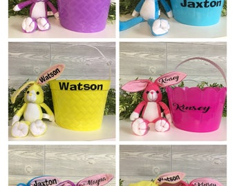 Personalized Easter Bunny & Basket