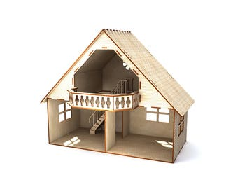 Dollhouse with balcony