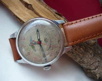 USSR watch SHTURMANSKIE 1MChZ Kirova / red Second Original Vintage Rare Wrist Watch 1MChZ Kirov First Moscow watch factory Kirovskie