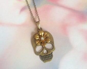 Skull necklace skull metal