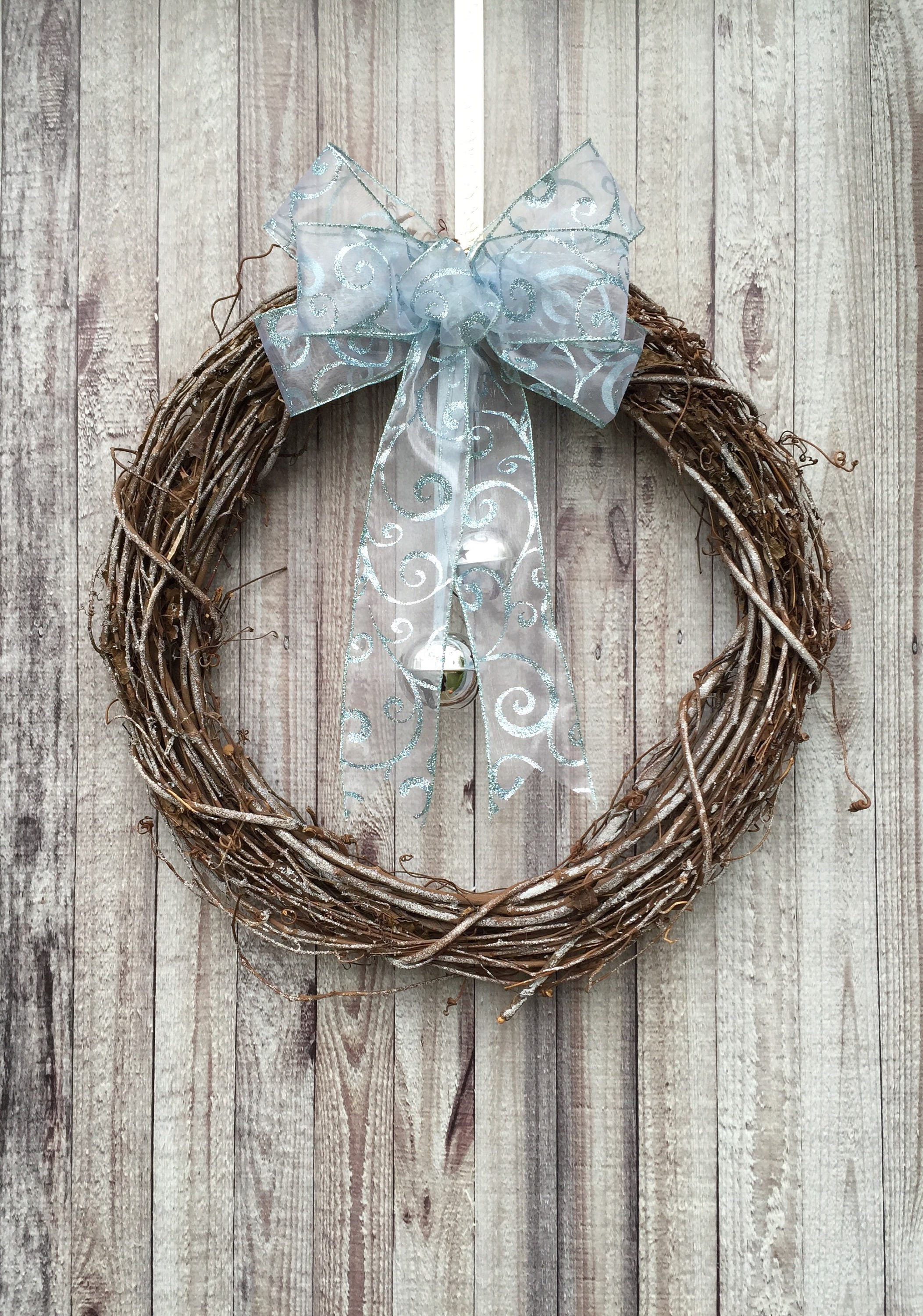 Rustic Christmas Wreath Winter Door