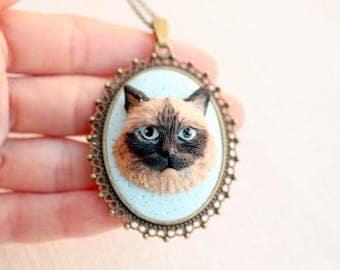Custom cat portrait, custom cat jewelry, cat owner custom gift, personalized cat, polymer clay cat art, custom pet portrait, pet jewelry