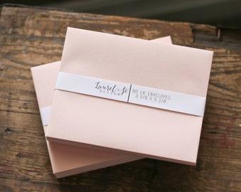 """BLUSH A1 Envelopes  (pink/peach) ~ Invitation Envelope ~ A1  = 3 5/8"""" x 5 1/8"""" ~ qty 25"""