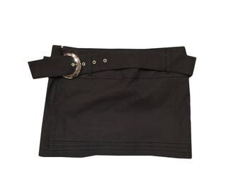 90s y2k Goth Mini Skirt W30