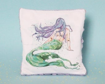 Mermaid Rice Bag, Hot Cold, Purple Minky heating pad, Toddler, Children Boo Boo Sack, Calm & Comfort bag, Ouchie, Soothing magical creature