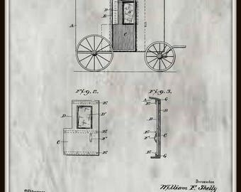 Door for Mail Wagon Patent #706694 dated August 12, 1902.