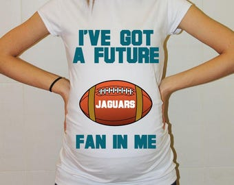 Jaguars Maternity Shirt Jacksonville Jaguars Baby Future Fan Shirt Baby Boy Baby Girl Jacksonville Football Pregnancy Clothing Baby Shower