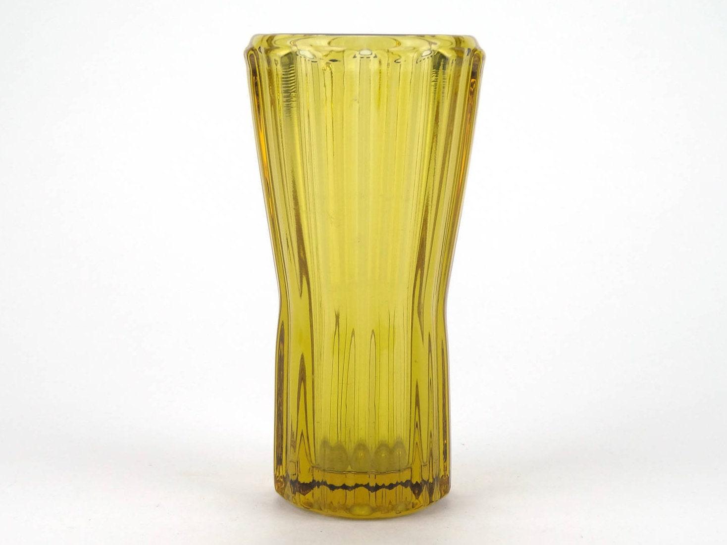 Vintage czech vase retro yellow glass vase sklo union rosice vintage czech vase retro yellow glass vase sklo union rosice bohemian pressed reviewsmspy