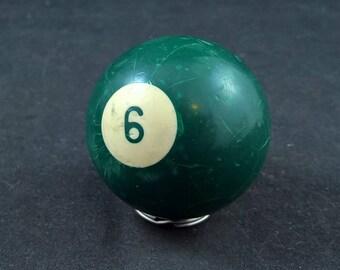 Nr 6 ball old pool ball pool billiard old billiard ball billiard 6 ball vintage pool ball vintage 6 ball vintage billiard ball