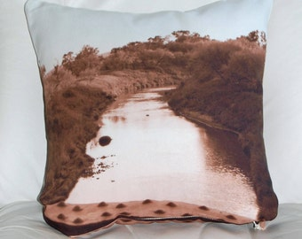 Indoor throw pillow cover