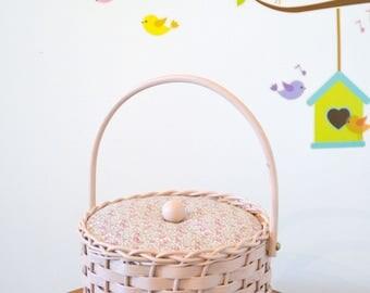 Working, vintage sewing basket, sewing, box, Liberty Eloise