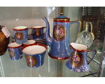 Noritake six-place Blue Lustre Coffee Set