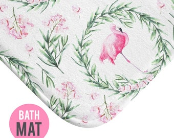 Flamingo Bath Mat - Available in Two Sizes