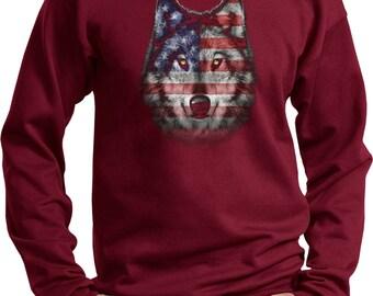 Men's USA Wolf Sweat Shirt 20979D1-PC90