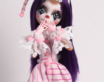 Penny The Clown ~ Daughter of Pennywise - OOAK Custom Monster High Doll