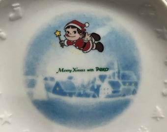 Vintage 1991 Milky Candy Peko Chan Christmas Plate