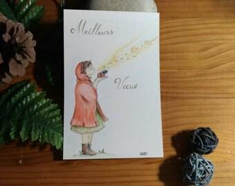 "Postcard ""Wish box"""