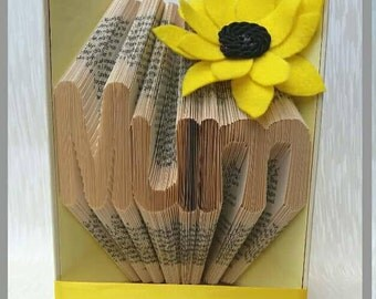 Mum book fold pattern, simple font, bold, mummy, mother, mama, Mother's Day, for her, mmf