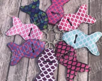 Mermaid Tail Chapstick Holder Keychain | Monogrammed Keychain | Personalized Chapstick Holder | Gifts | Monogram | Essential Oil Holder