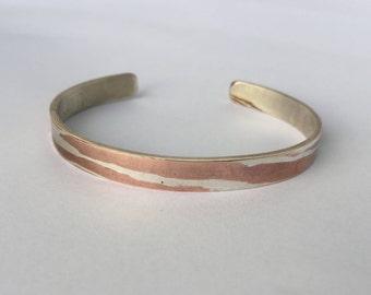 Torn-Mokume-Gane Bracelet