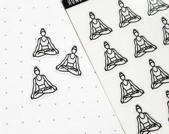 Yoga Stickers, Yoga  Planner Stickers, Exercise Stickers, Fitness Stickers, Day Designer Stickers, Passion Planner, Erin Condren Stickers