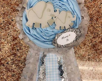 Elephant Baby Shower Corsage