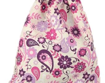 Bag pouch Tote, range pajamas, blanket, paisley