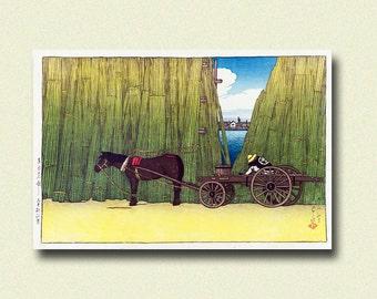 Get 1 Free Print - Komagata Embankment 1919 - Kawase Hasui Poster Japanese Art Print Ukiyo-e Print Japanese Print Gift Idea Hasui Print