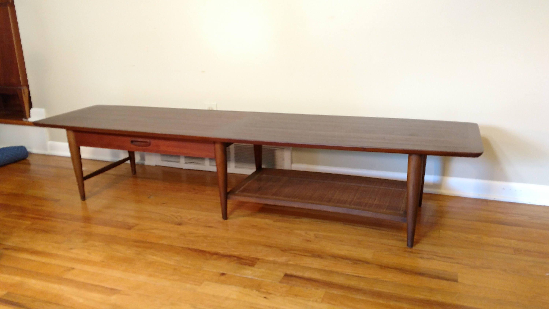 mid century lane surfboard coffee table. Black Bedroom Furniture Sets. Home Design Ideas