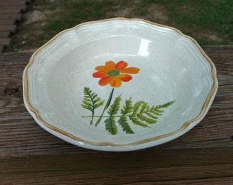 70's Mikasa Garden Club/Summer Garden Pattern-Salad/Cereal/Soup Bowl Discontinued Stoneware